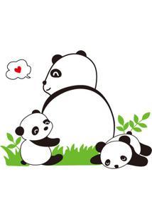 Adesivo De Parede Panda- Preto & Verde- 50X70Cm-Evolux
