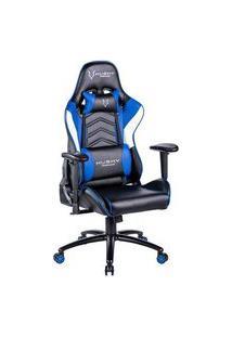 Cadeira Gamer Husky Gaming Storm, Azul, Preto E Branco, Com Almofadas, Reclinável, Descanso De Braço 2D - Hst-Bbw