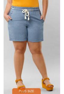 Shorts Sarja Azul
