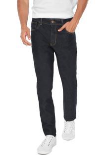 Calça Jeans Triton Slim Pespontos Azul