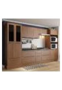 Cozinha Compacta Calábria Paneleiro,Aéreos, Balcões Nogueira