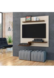 Painel Para Tv 50 Polegadas Ayla 120 Cm Off White Savana