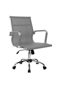 Cadeira Office Byartdesign Esteirinha Tela Cinza