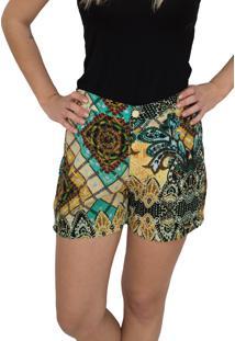 Shorts Capim Canela Artisan Caramelo