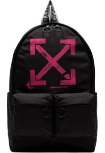 Off-White Mochila Com Estampa - Preto