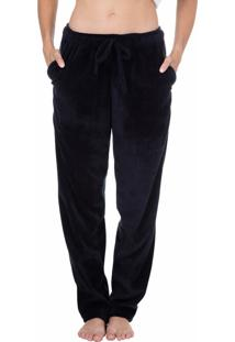 Calça Plush Homewear Preto - 589.0719 Marcyn Lingerie Pijamas Preto