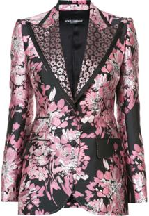 Dolce & Gabbana Blazer Jacquard Floral - Rosa