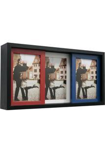 Porta Retrato Slide 3 Fotos Colorido