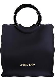 Bolsa Petite Jolie Shopper Curly Feminina - Feminino-Preto