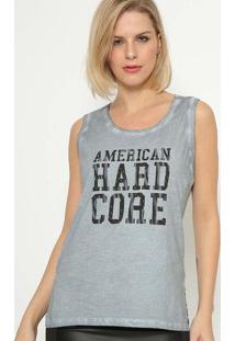 "Regata ""American Hard Core"" - Cinza & Pretacalvin Klein"