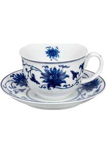 Xícara De Chá Com Pires Lazuli 4 Peças Vista Alegre Atlantis