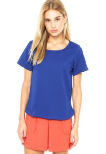 Blusa Dafiti Unique Malha Textura Azul