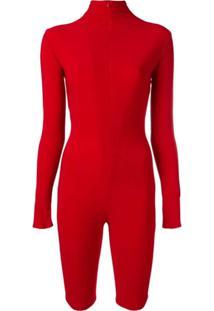 Atu Body Couture Macacão Mangas Longas - Vermelho