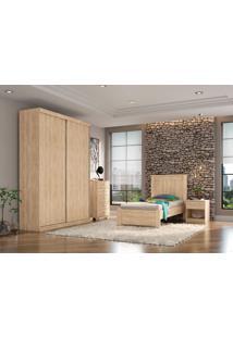 Dormitório Solteiro Ariana Cedro Madeirado Robel Móveis