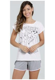 Pijama Feminino Short Doll A Dama E O Vagabundo Disney