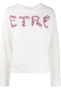Etro Blusa De Moletom Com Logo - Branco