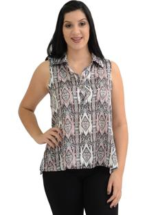 Camisa Energia Fashion Estampada Preto
