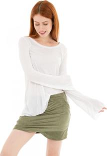 Camiseta Manga Longa Sino 41Onze Branca