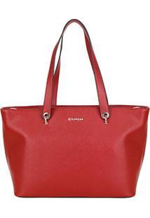 Bolsa Dumond Shopper Soft Safiano Feminina - Feminino-Vermelho