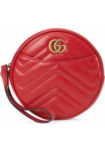 Gucci Carteira Gg Marmont Com Zíper - Vermelho