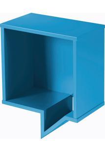 Prateleira Cartoon Quadrada Azul Laca M50