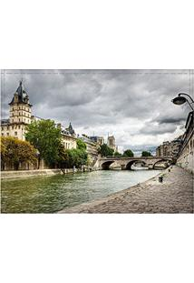Jogo Americano Decorativo, Criativo E Descolado | Vista Do Rio Sena Em Paris Na França - Tamanho 30 X 40 Cm