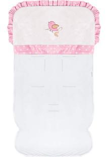Capa De Carrinho Padroeira Baby Passarinhos Rosa
