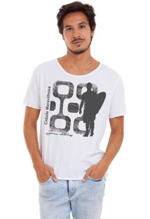 Camiseta Joss Corte A Fio Branca Cidade Maravilhosa