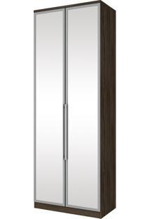 Guarda-Roupa 2 Portas 3 Gavetas Espelho Diamante Moka - Henn