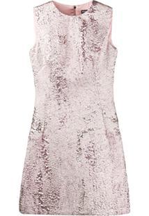Dolce & Gabbana Vestido Com Efeito Jacquard - Rosa