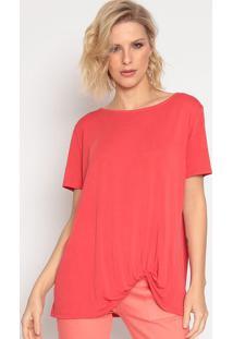 Blusa Com Torã§Ã£O- Coral- Seduã§Ã£O Dressseduã§Ã£O Dress