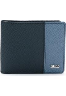 Boss Carteira De Couro - Azul
