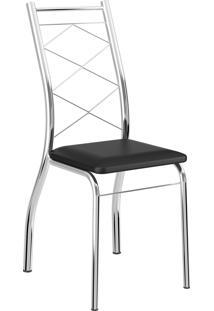 Kit 2 Cadeiras 1710 Napa Móveis Carraro Preto