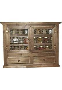Porta Temperos E Condimentos Rustico Decorativo Em Madeira Reciclada 24 Temperos
