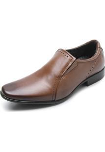 Sapato Social Couro Pegada Básico Caramelo