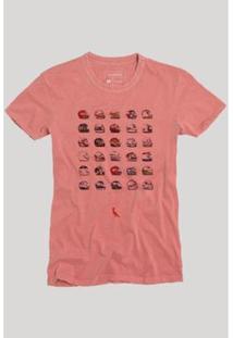 Camiseta Reserva Capacetes Masculina - Masculino-Vermelho Claro