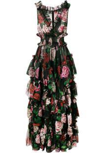 98b63cfb4 ... Dolce & Gabbana Vestido De Festa Com Estampa Floral - Preto