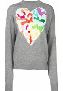 Barrie Dream In Space Cashmere Round Neck Pullover - Cinza
