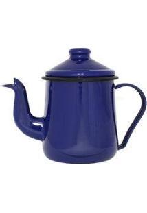 Cafeteira Esmaltada 12 - 1,0 L Tradicional Azul Ewel Com 2