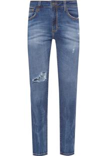 Calça Masculina Skinny Bidar 3D - Azul