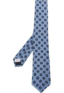 Tagliatore Gravata Com Padronagem Floral - Azul