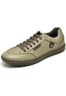 Sapatenis Couro Com Elástico Mega Boots Verde