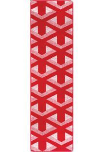 Tapete Andino Geométrico Ii Retangular Polipropileno (66X230) Vermelho