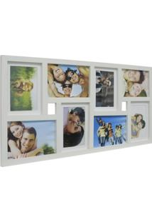 Painel De Fotos Fine 34X66 4 Fotos 10X15 E 4 Fotos 13X18 Branco Kapos