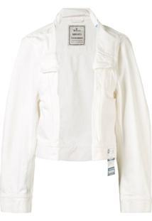 Maison Mihara Yasuhiro Jaqueta Jeans Assimétrica - Branco
