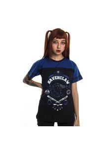 Camiseta Plus Size Harry Potter Quadribol Corvinal Preto