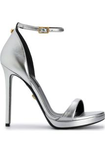Versace Sandália Metalizada - Metálico