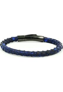 Pulseira Single Python Dark Blue