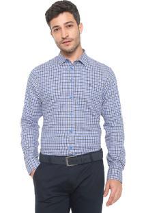 Camisa Forum Reta Estampada Azul