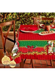 Toalha De Mesa Estampada Natal- Vermelha & Verde- 14Lepper